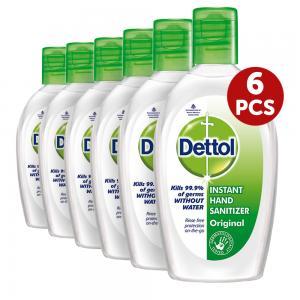 Dettol 6 piece Hand Sanitizer Original, 50 ML