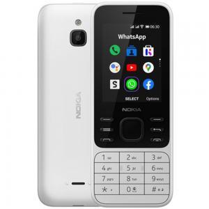 Nokia 6300 Dual SIM 512MB RAM 4GB Storage, 4G LTE, White