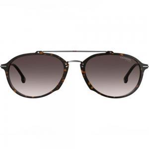 Carrera 171/S Dark Havana Aviator Sunglasses for unisex Gray Lens, Size 55