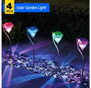 4 PCS Solar Garden Light