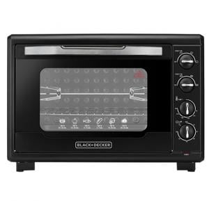 Black and Decker 55 L Double Glass Toaster Oven, TRO55RDG-B5