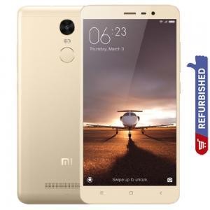 Xiaomi Redmi Note 3 Dual SIM Gold 3GB RAM 32GB Storage 4G LTE, Refurbished
