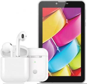 2 in 1 Bundel Pack BSNL Penta T-PAD P07 Tablet, I12 TWS Bluetooth Earphone Pop-up Wireless Earphones