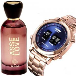 2 in 1 Ladies Fashion Pack Of Skmei Watch And Ruky Asse Love Perfume