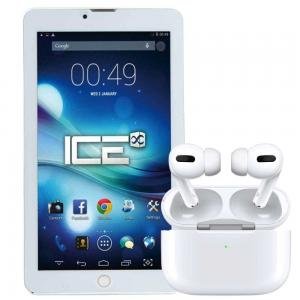 2 In 1 Luxury Touch S716, 7 inch Tablet Dual SIM 3GB RAM 32GB Storage 4G LTE, Assorted Color And TWS Airpod Pro 3 Bluetooth Earphones Wireless Headset, White