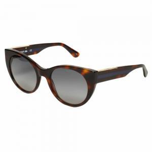 Lacoste L913S Havana Cat Eye Sunglasses For Women Gray Lens, Size 53