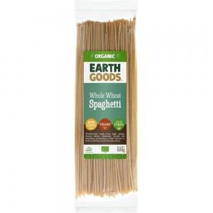 Earth Goods Organic whole wheat spaghetti, NON-GMO, Vegan, High Fiber 500g, 15539