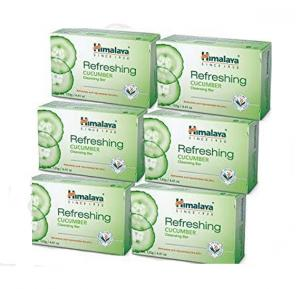 Himalaya 6pc Refreshing Cucumber Soap 125g