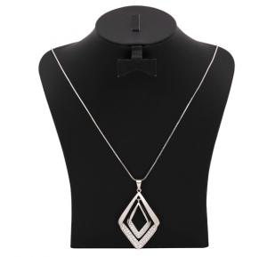 Stainless Steel Double Pendant Necklace