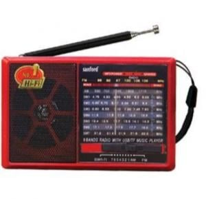 Sanford Rechargeable Portable Radio - SF1017PR BS