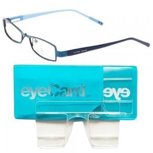 2 In 1 EyeCard Reading Glasses 2.5 Credit Card Size And Jacques Lemans Womens Rectangular Eyeglasses Frame, JLF 1-5028 C