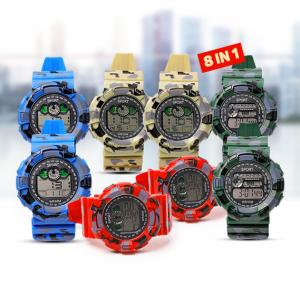 8 set Digital Analogue Sport watch WR30M, Alg008
