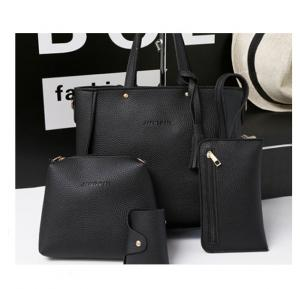4 Pcs Women Hand Bag Set WB19-04 - Black