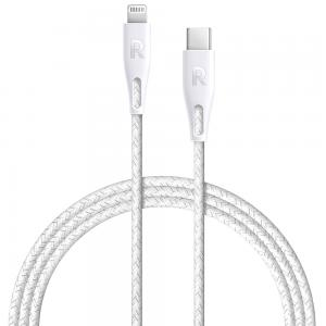 RAVPower RP-CB1005WHI 2m Type-C to Lightning Cable Nylon White Offline