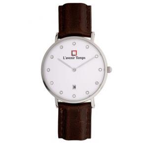Lavenir Temps Analog Dark Brown Strap Watch For Woman - W-LT00583YBR-3