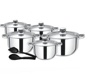 Royalford 12Pc SS Cookware Set - RF9352 Silver