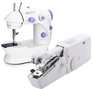2 in 1 Bundle Pack Elony Mini Sewing Machine And Handy Stitch Sewing Machine
