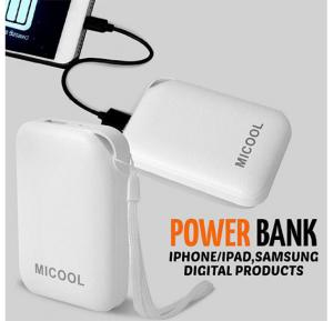 M15 MICOOL Fashion Portable 10400mAh 2A Output Multi-color Power Bank For All devices