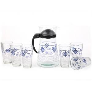 S.L.G.L OSP009 Glass Sets with Handle ,7 Pcs Assorted Color