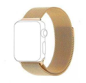 Generic Milanese Replacement Band - Magnetic Closure For Apple Watch - Gold