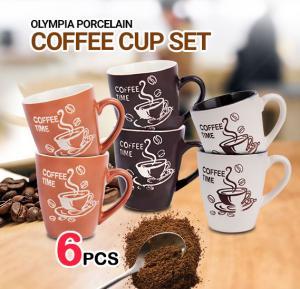 Olympia 6 Pcs Porcelain Coffee Cup Set, OE-1999