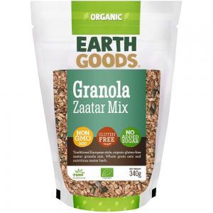 Earth Goods Organic Gluten-Free Zaatar Granola Mix, NON-GMO, Gluten-Free, No Added Sugar 340g, 15531