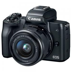 Canon EOS M50 Mirrorless Digital Camera With EF-M 15-45mm f/3.5-6.3 IS STM Lens, Black