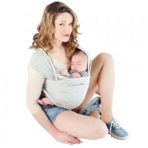 Love Radius Basic Baby Wrap Light Grey