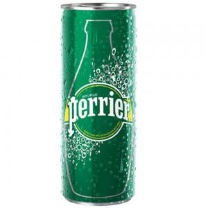 Perrier Carbonated Natural Spring Water Slim Can Original  At Special Price,10x250mL