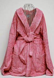 Rest Cotton Bathrobe Unisex Dusty Pink Color, 9032152