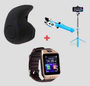 Bundle Offer! Bluetooth Earpies -EA-852+Selfie Stick With Stand And Remote-EA-864+M9 Watch