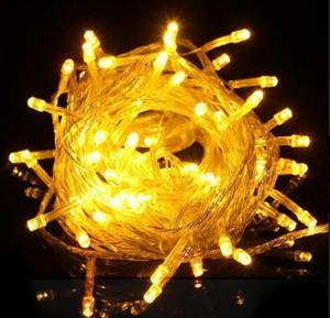 100 LED 10M Multi Function Indoor Outdoor Wedding Party Patio Window Fairy String Dorm Lights, Yellow