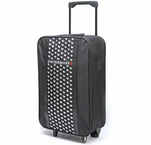 Swiss Mark 22 Inch Travel Trolley Bag, Black