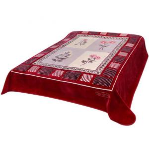 Solaron 2-Ply Layer Rachel Blanket Polyester Red 200 x 240centimeter