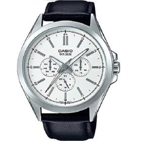 Casio MTP-SW300L-7AVDF Mens Precisionist Stainless Steel Sweep Second Hand Multifunction Watch