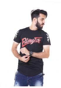 Kenyos Short Sleeve T-Shirt For Men Black NAABF31628X - M