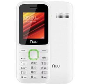 Nuu F2 32MB RAM 64MB Storage Mobile Phone without Camera - White & Green