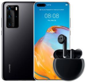 2 IN 1 Mobile Smart Bundle , HUAWEI P40 Pro Dual SIM Black 8GB RAM 256GB 5G With HUAWEI FreeBuds 3 Earphones Ceramic Black