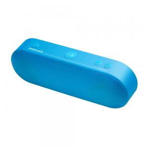 Promate Bluetooth Speaker Portable Wireless Speaker with Mic 6W HD Sound Quality 3H Playtime FM Radio 3.5mm Audio Jack USB Media Port and SD Card Slot, Capsule Blue