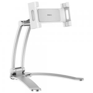 Rock Universal Adjustable Suspensible Desktop Phone Tablet Stand Silver
