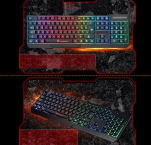 Gaming Esport Keyboard Usb Wired Led Colorful Backlit Backlight Illuminated
