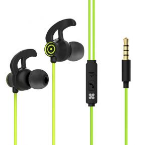 Promate In-Ear Premium 3.5mm HD Stereo Sound Earphones with Built-In Mic, Swift Green