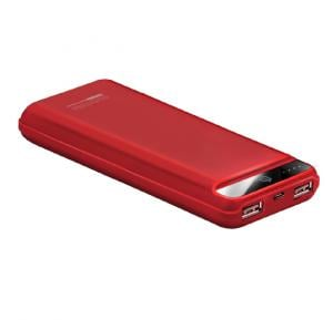 Promate Power Bank, Ultra-Compact 20000mAh Portable charger with Ultra-Fast Charging Dual 2.4A USB Port and Over Charging Protection for Smart Phones, Tablets, iPod, iPad, Quantum-20.Red