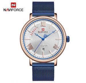 Naviforce NF3006 Quartz Fashion Luxury Watch for Men- Blue