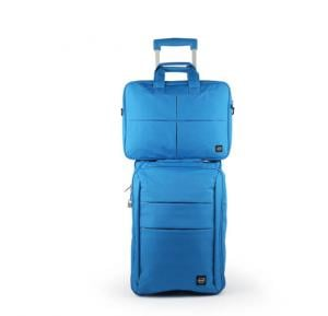 Okko 2in1 Foldable trolley with laptop bag - Blue-36420