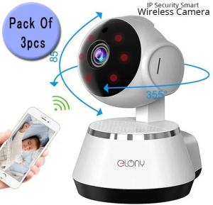 Elony 3 PIECE IP Security Smart Net Camera, High Resolution Wireless WiFi Indoor Camera