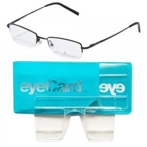 2 In 1 EyeCard Reading Glasses 2.5 Credit Card Size And Jacques Lemans Rectangular Eyeglasses Frame, JLF 1-5089 A