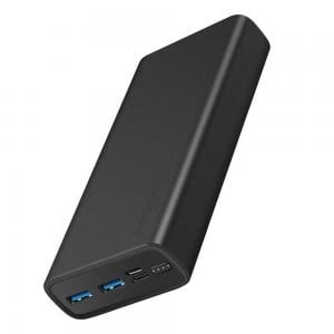 Promate 20000 Mah Compact Smart Charging Power Bank with Dual USB Output