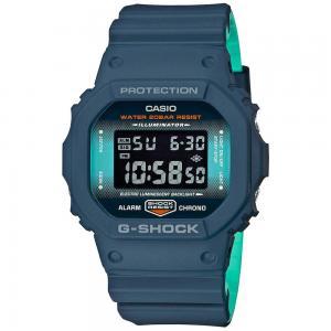 G-Shock Digital Mens Watch, DW-5600CC-2DR, Blue