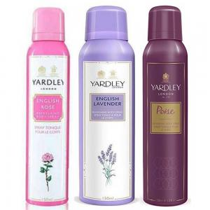 Yardley Lavender, English Rose and Poise 150 ml Body Spray 2 and 1, YD73315NEP
